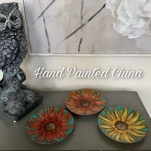 Hand Painted Abstract Floral China